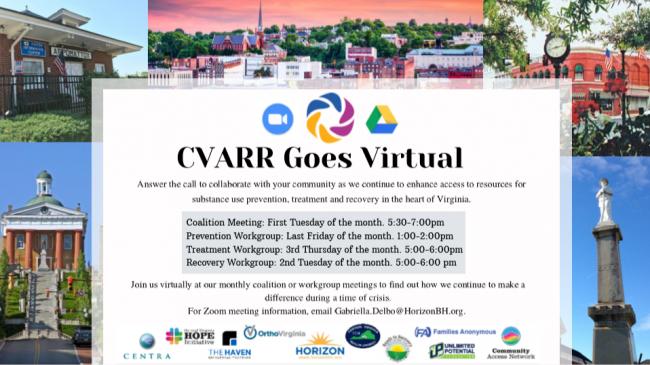 Virtual CVARR Meetings In effect